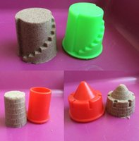 Wholesale Set Sand Clay Mold Building Pyramid Sandcastle Beach Sand Toy Baby Model Building Kits Child Kid Favor Portable Castle