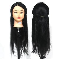 Wholesale Hot Selling Black Mannequin Heads Synthetic With Animal Hair Hairdressing Cut Marcel High Quality Practice Training Head Model