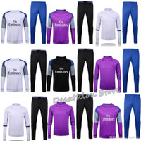 Wholesale Real Madrid tracksuits training real madrid Blue Purple long sleeve tracksuit training survetement football real madrid jacket