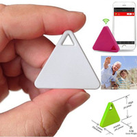 Venta al por mayor- Bluetooth Buscador de Niños Tracker Bolsas Kid Pet seguimiento de la etiqueta del monedero gps ubicación de la alarma Anti-perdió GPS localizador de dispositivos Nuevo Smart