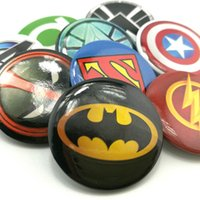 Wholesale New Arrival Superhero Cartoon Brooch Badge Round Badges Party favor Children s toys Kids gifts