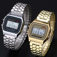 Wholesale Mix colors Stainless wrist Alarm F91W Chrono Watch F W Odm LED Watch MW041