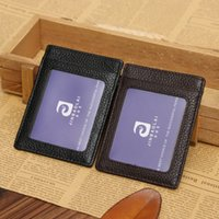 Wholesale Foreign trade goods JINBAOLAI ultra thin Small leather card credit certificate card set of work permit collar for a horse