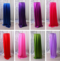 Wholesale 150CM inch wide ice Silk fabric wedding backdrop Satin Fabric Decoration Solid Color Cloth Performance Clothing Fabrics Clothing Lining