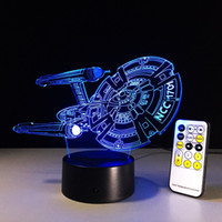 Wholesale Star Trek Colors Changing Lamp USB Powered Illusion Night Light with Remote Control Furnish Desk Table Lighting Home Decoration Toys