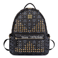Wholesale NEW Arrival Punk Style Rivet Backpack Fashion Travel Backpack PU Leather Boys Girls School Bags Casual Men Women Shoulder Bags