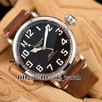 NOUVEAU arrivé Marque de luxe Mens Automatic Watch Pilot 03.2430.3000 / 21.C738 Montres de sport pour hommes 47mm Type 20 Bracelet de cuir extra Speclal en cuir marron