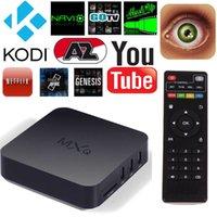 al por mayor televisión lector de xbmc-MXQ TV Box S805 Quad Core Caja KODI XBMC Stream Media Player 1G + 8G WIFI Android Totalmente Cargado Soporte ShowBox Mobdro Libre Deportes Películas