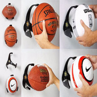 basketball decorations - Basketball Plastic Crafts Ball Claw Sports Soccer Ball volleyball wall Holder for Home Decoration direct mount dot sight