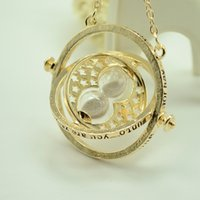 Wholesale 2016 Popluar Harry Potter Hermione Granger Gryffindor Hogwarts School of Witchcraft and Wizardry Necklace Time Turner