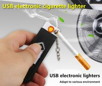 Wholesale Take charge of creative gifts USB windproof lighter button electronic cigarette lighter environmental direct selling custom LOGO by plane