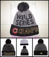 Wholesale New Chicago Cubs Beanie Champs Pom Knit Hats World Series Champion Caps For Men Women Winter Wool Beanies DHL