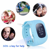 anti button - Q50 kids smart watch with GPS tracker one button SOS safety monitor children anti lost watch double location