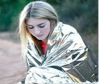 Wholesale 10pcs Portable Outdoor Water Proof Emergency Survival Rescue Blanket Foil Thermal First Aid Rescue Curtain x130cm
