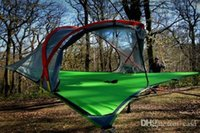 Wholesale 10pcs Tentsile Tree Tent Outdoor Camping Tents person Hanging Hammock D Oxford cloth PU painted Free FEDEX