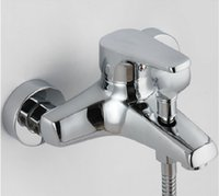 Wholesale Shower mixer Faucet Shower Faucets Wall Bathrooom accessories Home hotel Modern Brass material Cold hot water control Brand