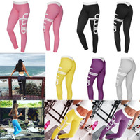 Wholesale Fashion Active Women Sporting Leggings Sexy Fitness Pants Letter Printed Girls Workout Leggings Elastic Legging Pants Sportswear
