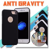 Wholesale Anti Gravity Selfie Magical Nano Sticky Absorption Hybrid PC TPU Cover Case For iPhone S Plus Samsung S8 Plus S7 S6 Edge Free Ship