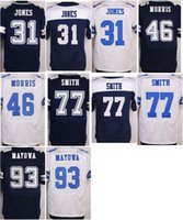 benson football - Mens Football Jerseys Byron Jones Alfred Morris Tyron Smith Benson Mayowa Stitched Elite Jersey Thanksgiving Blue White