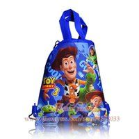 backpacks school supplies - Toy Story Hot style1pcs Children Drawstring Backpack cm Kids School Supplies Party Best Gift High Quality Stationery