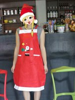 Wholesale Christmas decorations bar restaurant hotel waiter creative clothing aprons Christmas applique aprons