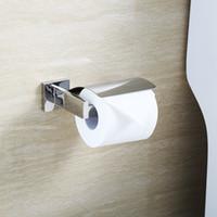 Wholesale BLH Solid Stainless Steel Chromed WC Toilet Paper Holder Toilet Tissue Roll Holder Hanger