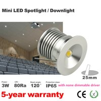 Wholesale 12pcs Mini led epistar chips downlight W cabinet lamp IP52 warm white include party light D mm with CE isolation driver