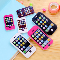 Wholesale novelty Mobile phone rubber eraser creative kawaii stationery school supplies papelaria gift for kids