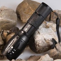 Wholesale G700 E17 CREE XML T6 lm High Power LED Torches Zoomable Tactical LED Flashlights torch light for AAA or x18650 Up