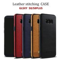 Para Samsung Galaxy S8 plus iphone7 plus Cuello de cuero Cajas de teléfono celular Funda de protección TPU para S7 S7 borde S6