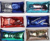 Wholesale Sequin Pillow Case Sequin Pillowslip Tone Color Pillow Mermaid Pillow Covers Case Reversible Cushion Cover Home Sofa Car Decor