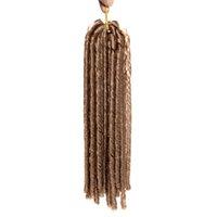 Precio de Rastas tejen-18 inch 100g / pack falso locs crochet el pelo negro de los dreadlocks pelo sintético de la trenza del ganchillo La Habana Mambo Faux Locs que teje