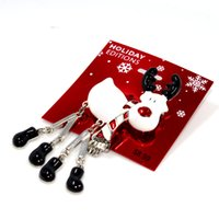 Wholesale VIOLET Matte Silver Zinc Alloy Casting Reindeer W Epoxy Movable legs Feet Shape Holiday Christmas Brooch Pin