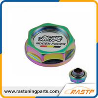 Honda aluminium fuel - RASTP Racing Mugen Power NEO Chrome Aluminium Oil Cap Fuel Tank Cover For Honda ACURA RS CAP008