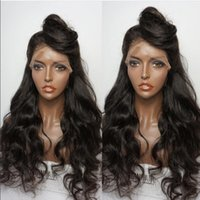 beach wig - Wavy Lace Front Wig For Black Women Brazilian Wigs With Baby Hair Virgin Hair Beached Kont Unprocessed Full Lace Wig