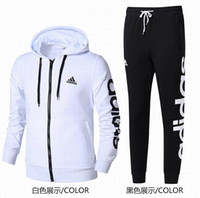 ad white - 2017 new arrival hip hop tracksuit AD men s jogging suit autumn spring warm pullover hoodies jackets quality Top pants for men
