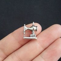 antique sewing machines - mm Antique Silver Sewing Machine Charm Pendant Jewlery Making