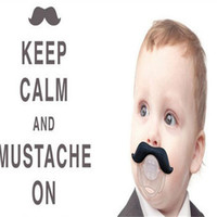 Wholesale Baby Pacifier Funny Pacifier Mustache Baby Boy Girl Infant Pacifier Dummy Beard Nipples Pacifiers Safe DHL Free