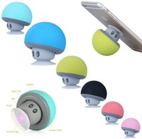 Wholesale Hot ones Cartoon small mushroom head Wireless Bluetooth Speaker suction cup portable Waterproof stereo Sound Box for Phone or PC