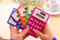 Deli Calculatrice solaire Calculatrice scientifique mignonne mini calculatrice en silicone Papeterie Ordinateur de bureau