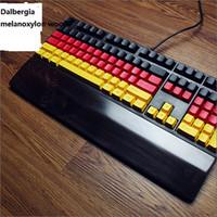 Wholesale Com Top Grade Elegant African shiny solid Blackwood Mechanical keyboard wrist pad for playing Dota CS WoW Environmental keyboard holder