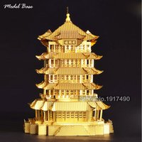 ancient chinese games - 3d Puzzle Metal Teaser Assemblage For Adult educational Kids Games Hobby d Model Children Puzzles Chinese Ancient Architecture