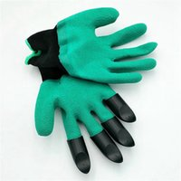 Wholesale Garden Genie Gloves With Claws Built In Claws Make Gardening Fun Easy Digging Planting Gloves Waterproof Resistant To Thorns
