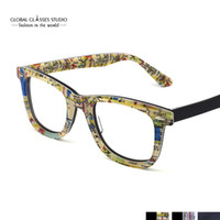 Wholesale Retro Fashion New York City subway map design Women Men Acetate Clear Lens Eyeglasses Optical Eyewear G