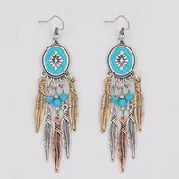 Wholesale Europe and the United States sell like hot cakes earrings accessories national wind restoring ancient ways stud earrings turquoise earrings