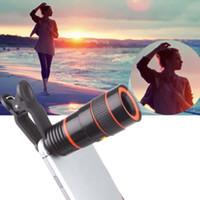 Wholesale Black X Zoom Magnifier Optical Telescope Camera Lens w Clip for mobile phone mobile Long Focal Lens A273