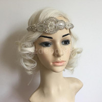 Wholesale 1920 s s Crystal Rhinestone Great Gatsby Flapper Headband Headpiece Costume Head Band Party Favor Fancy Dress