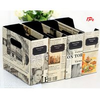 Wholesale DIY Paper Board Newspaper Storage Box Desk Stationery Makeup Cosmetic Organizer