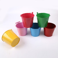 Wholesale large size Colour Gardening Small Portable Bucket Candy Color Countryside Mini Tuba Sandy Beach Drum