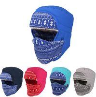 Trapper Hats Printed Unisex Hot sale Fleece Winter Thermal Warm Balaclava Hood Swat Ski Cycling Motorcycle Neck Face Mask Hood Hat outdoor Helmet Cap